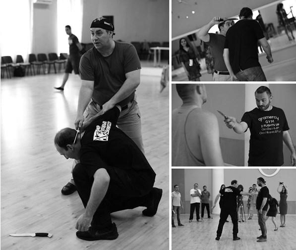 Фото с семинара  «Шесть финтов испанской школы фехтования», Одесса 18-19 мая 2018 года