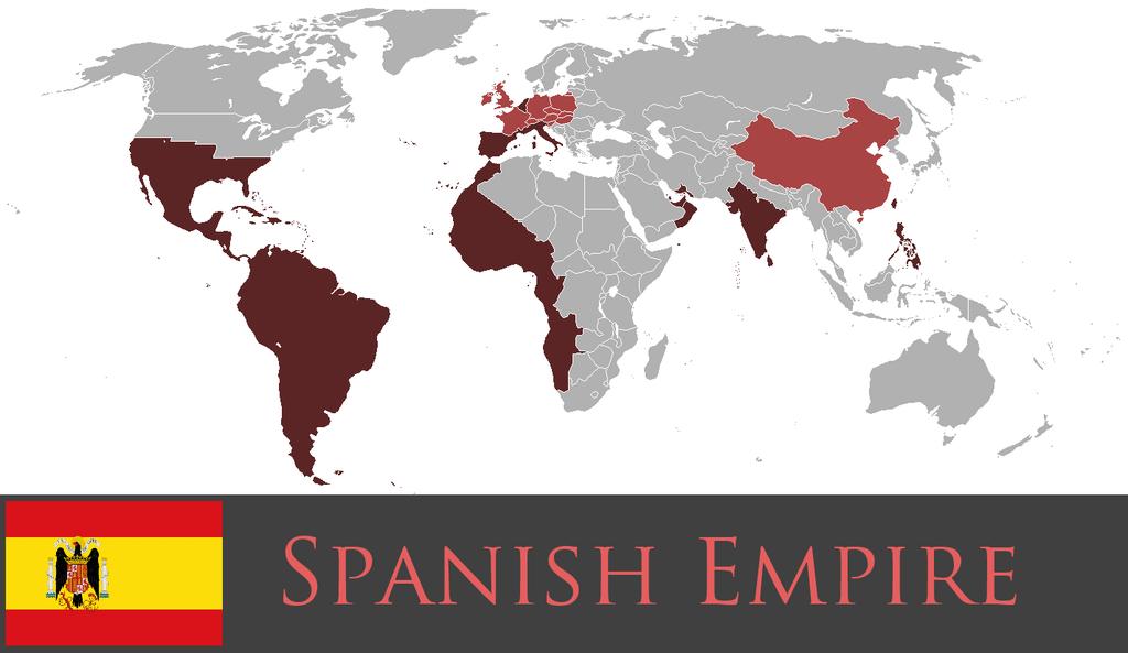 карта испанской империи