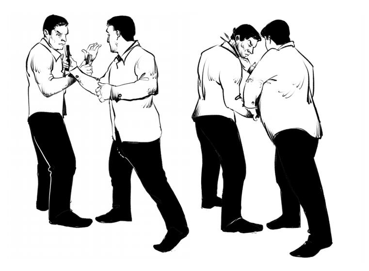 провокация противника. фехтование опасной бритвой