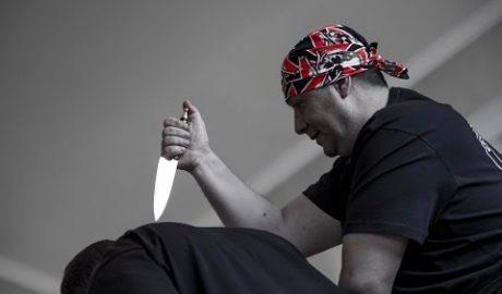 Канарский нож в ножевом бою. 6 демонстраций